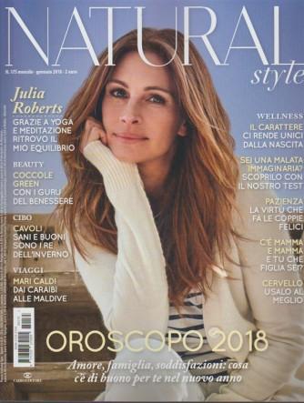 Natural Style - mensile n. 175 Gennaio 2018 Julia Roberts