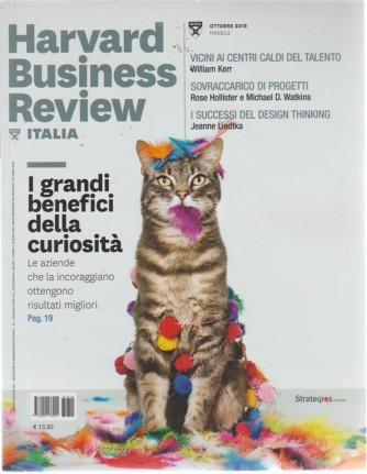 Harvard Business Review - Italia - n. 10 - ottobre 2018 - mensile