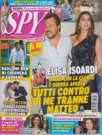 Spy - n. 44 - settimanale - 26 ottobre 2018