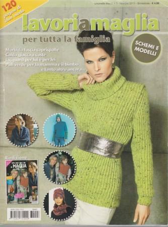 Lavori a maglia per tutta la famiglia - n. 3 - novembre - dicembre 2013 - bimestrale - 120 pagine di idee moda