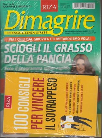 RIZA Dimagrire-mensile n.190 Febbraio2018+100 consigli per vincere il sovrappeso