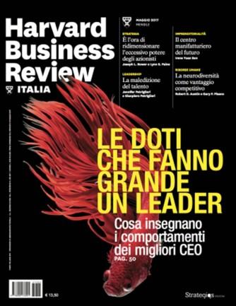Harvard Business Review Italia mensile n.5 Maggio 2017