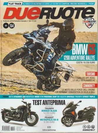 Dueruote - mensile n. 154 Febbraio 2018 BMW GS 1200 Adventure Rallye