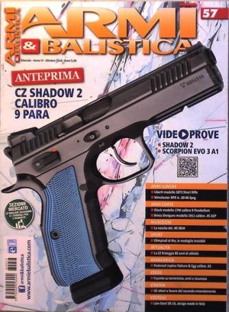 "Armi E Balistica - mensile n. 57 Settembre 2016 ""CZ Shadow 2 Calibro 9 Para"""