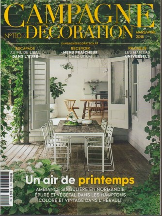 Campagne Decoration - mensile n. 110 Marzo 2018 - in Francese
