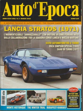 Auto d'epoca - mensile italiano di auto storiche n. 3 Marzo 2018