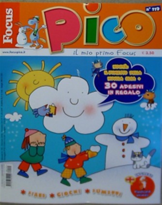 "Focus Pico - mensile n. 119 - Gennaio 2018 ""Il fumetto della nuvola olga 30 adesivi in regalo"""