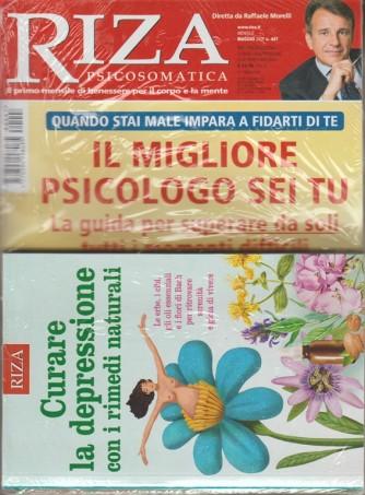 RIZA Psicosomatica - mensile n. 447 maggio 2018 + libro Curare la depressione