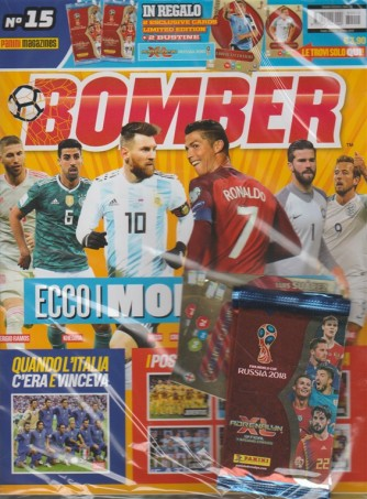 Bomber - mensile n.15 Maggio 2018 + 2 esclusive cards limited edition +2 bustine