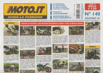 Moto.It - mensile n. 140 - Giugno 2018 - guida la passione