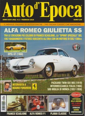 Auto d'epoca - mensile n. 402 italiano di auto storiche - Febbraio 2018