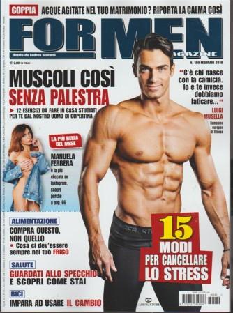 For Men Magazine - mensile n. 180 Febbraio 2018 diretto da Andrea Biavardi