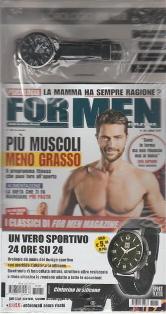 For Men Magazine - mensile n. 185 Luglio 2018 + L'orologio Sport Watch