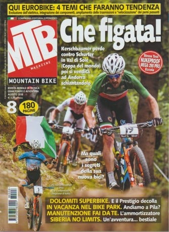 Mtb Magazine -  Mountain bike - n. 8 - agosto 2018 - mensile