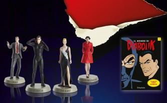 """Collezione completa """"il mondo di DIABOLIK""""- n. 20 personaggi 3D - scala 1:12"""