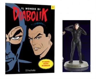 """""""il mondo di DIABOLIK""""- Diabolik personaggio 3D n.1 - scala 1:12 - h. cm.14"""