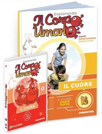 """Esplorando il corpo umano - vol. 1 """"Il cuore"""" libro+DVD - by De Agostini"""