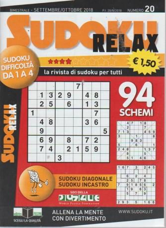 Sudoku relax - n. 20 - bimestrale - settembre - ottobre 2018 -