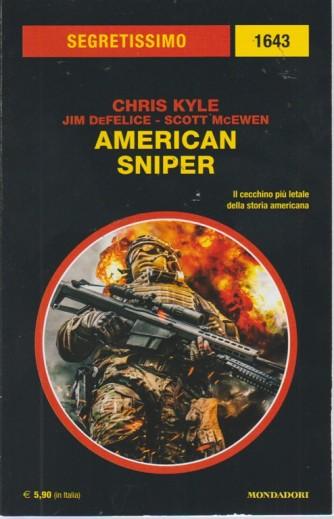 Segretissimo/1 - American Sniper - n. 1643 - bimestrale - settembre 2018 -