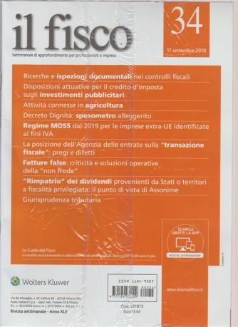Il Fisco - n. 34 - 17 settembre 2018 - settimanale