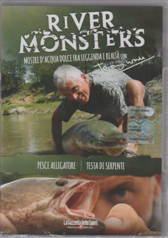 RIVER MONSTER'S. MOSTRI D'ACQUA DOLCE FRA LEGGENDA E REALTA' CON JEREMY WADE. PESCE ALLIGATORE. DVD.