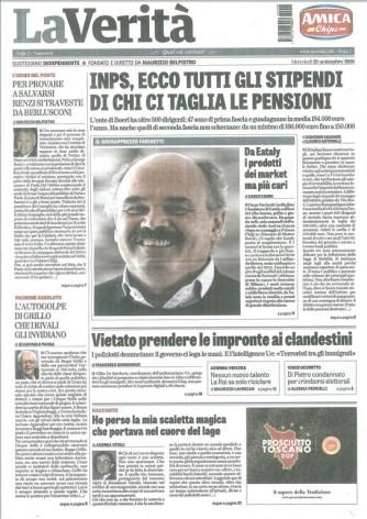 La Verita' - Quotidiano n. 1 28 Settembre 2016