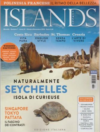ISLANDS VIAGGI. N. 7. MENSILE OTTOBRE/NOVEMBRE 2016.