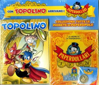 Topolino Libretto Con Allegati - N° 3399 - Raccoglitore Monete Di Paperopoli + 1 Moneta - Supertopolino Panini Comics