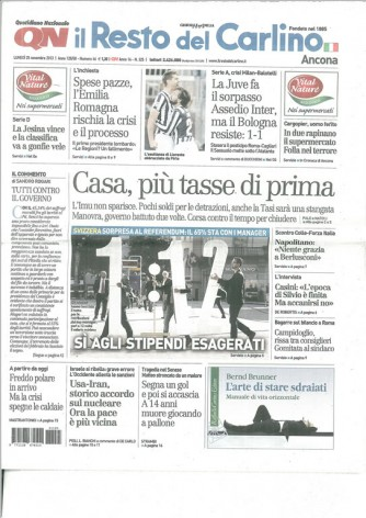 il Resto del Carlino edizione Ancona - Lunedì 25 Novembre 2013