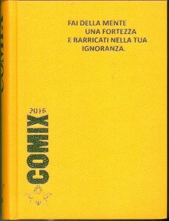 Diario scolastico COMIX 2016 - versione Standard 14x18 cm.  Giallo