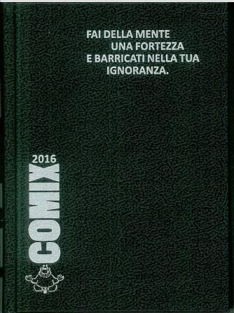 Diario scolastico COMIX 2016 - versione Standard 14x18 cm.  Nero