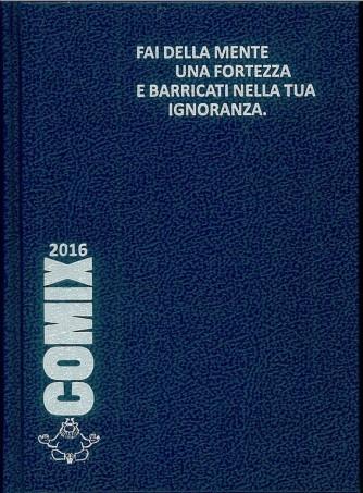 Diario scolastico COMIX 2016 - versione Standard 14x18 cm.  BLU