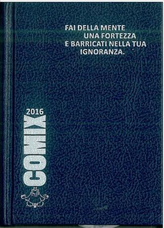 Diario scolastico COMIX 2016 - versione MIGNON 9,5x13 cm. blu
