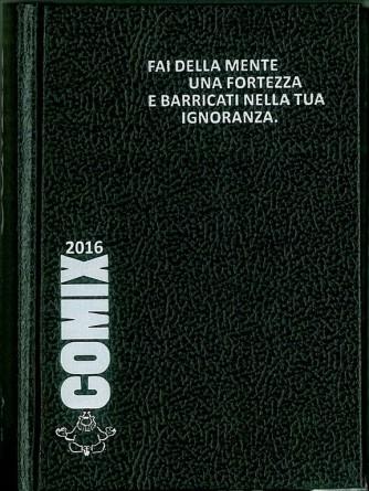 Diario scolastico COMIX 2016 - versione MIGNON 9,5x13 cm. NERO