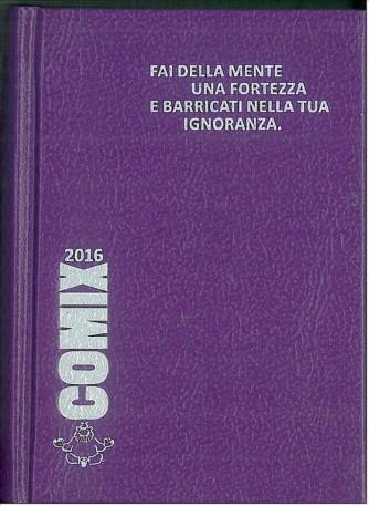 Diario scolastico COMIX 2016 - versione MIGNON 9,5x13 cm. VIOLA