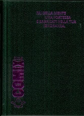 Diario scolastico COMIX 2016 - versione MINI 11,5 x 16 cm NERO/fuxia