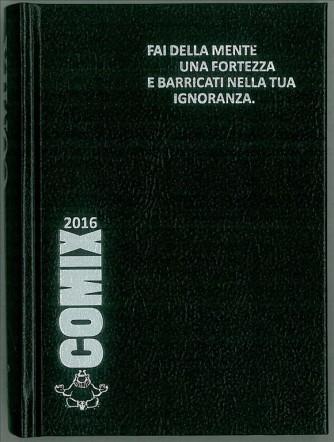 Diario scolastico COMIX 2016 - versione MINI 11,5 x 16 cm NERO/argento