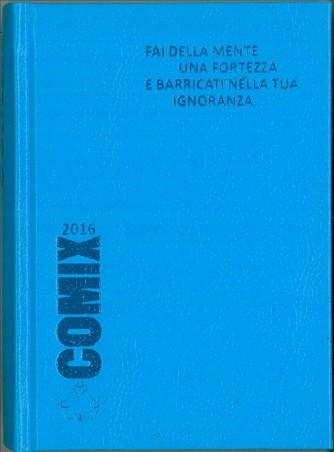 Diario scolastico COMIX 2016 - versione MINI 11,5 x 16 cm celeste
