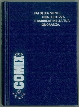 Diario scolastico COMIX 2016 - versione MINI 11,5 x 16 cm BLU