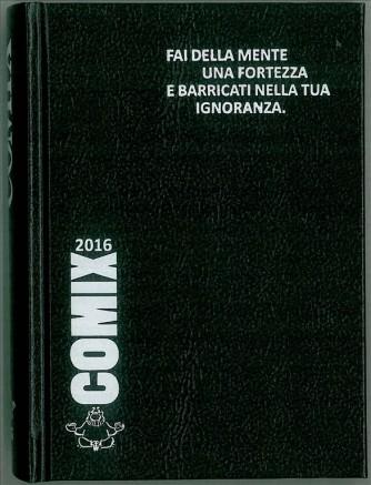 Diario scolastico COMIX 2016 - versione MINI 11,5 x 16 cm NERO/bianco