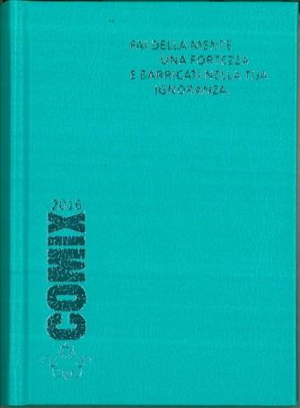 Diario scolastico COMIX 2016 - versione MINI 11,5 x 16 cm verde acqua