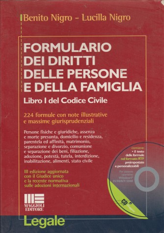 Formulario dei diritti delle persone e della famiglia - Maggioli Editore