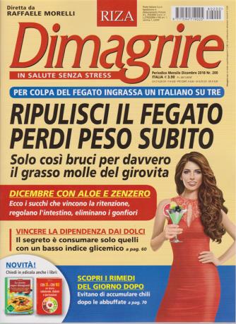 Dimagrire - n. 200 - mensile - dicembre 2018