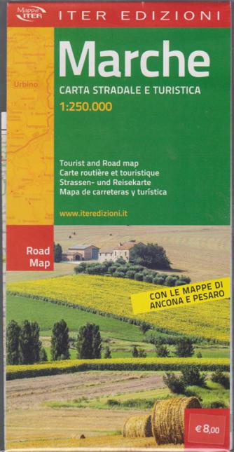 Mappe iter - Marche - carta stradale e turistica 1:250.000 -  - Con le mappe di Ancona e Pesaro -
