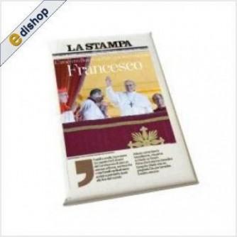Magnete Papa Francesco + Prima Pagina La Stampa