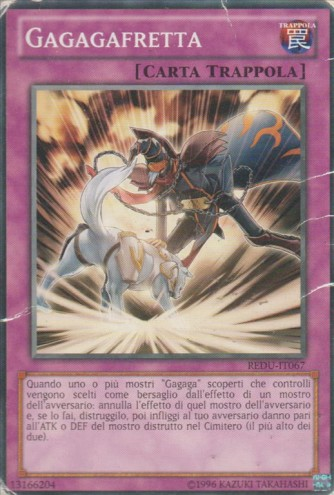 Gagagafretta - comune - Unlimited - carta trappola - yu-gi-oh