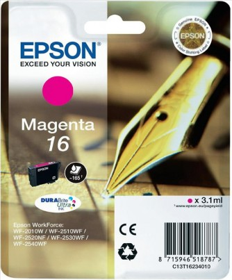 Cartuccia originale Epson 16 Magenta C13T16234010