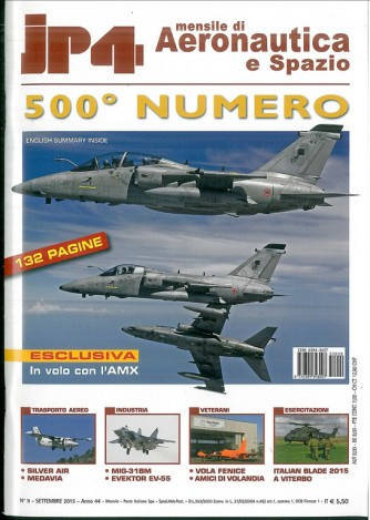 JP4 mensile di aereonautica e spazio 500° NUMERO anno 2015