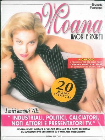 """Moana Pozzi  libro """"Amori e segreti"""" + DVD """"L'ultima volta"""""""