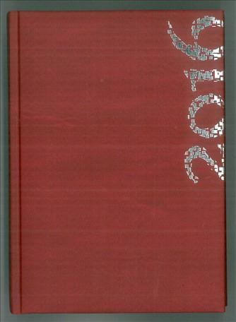 Agende Giornaliera 2016-14,5x20,5cm-Mod.255-mod.Sidney-col.rosso cardinale